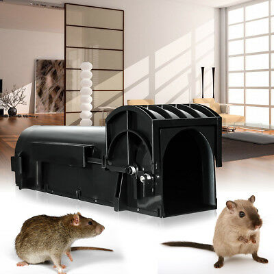 Humane Rat Trap Mouse Mice Control Live Bait Catch Animal Pest Rodent Cage Box