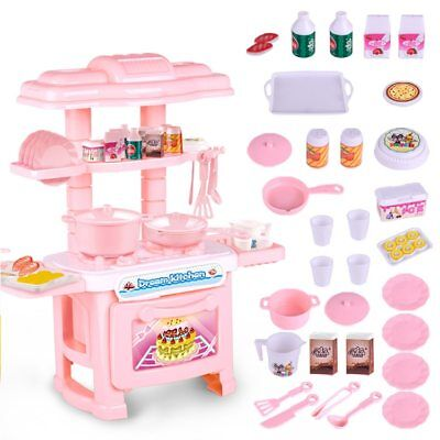 Baby Miniature Kitchen Plastic Pretend Play Food for Kids Kitchen Toys Set