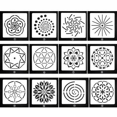 MANDALA DOT PAINTING Templates Stencils for Stone Wall Art