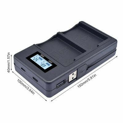 PALO LP-E8 LCD Smart USB Camera Battery Charger For Canon Micro 700D 650D WW