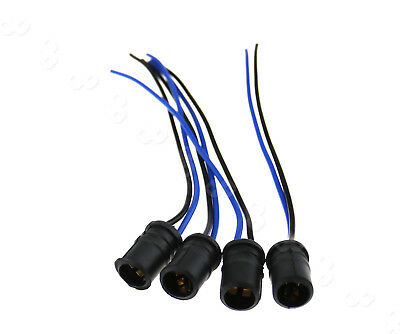 4PCS 12V T10 LED Car Connectors Socket Holder ABS Bulb Light Harness Pig Tail