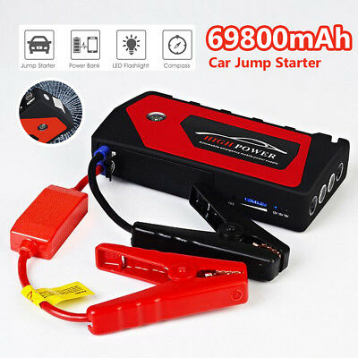 69800mAh Heavy Duty Portable Car Battery Jump Start Power Starter Booster Pack