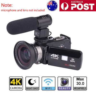 WiFi 4K HD 16X ZOOM infrared Night Vision DV Digital Video Camera Camcorder AU