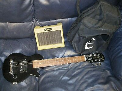 Epiphone Les Paul Gibson Mini Electric Guitar Speaker and Case