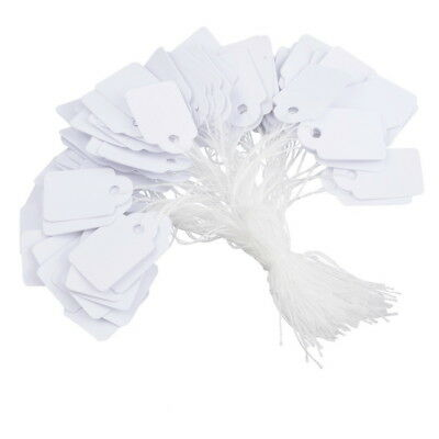 White Strung Tickets 38 x 24 mm Price Tags String Swing Labels 38mm x 24mm C-24