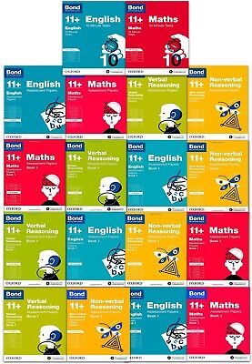 Bond 11+ English, Maths, Non-verbal Reasoning, Verbal Reasoning Packs Years 7-12
