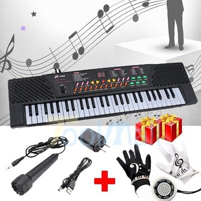 54 Keys Music Electronic Keyboard w/Mic+Air Piano Gloves for Party Children Gift