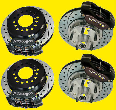"Wilwood Camaro Chevelle Front And Rear Disc Brake Brakes Kit Drilled  11"" Rotors"