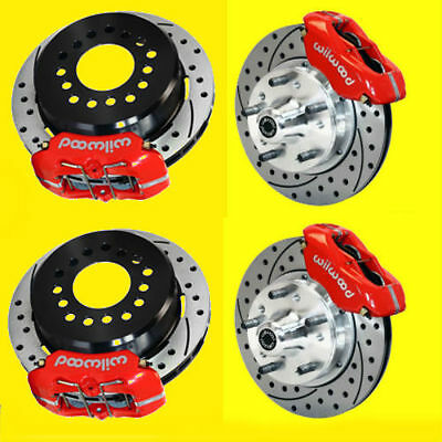 "Wilwood Camaro Chevelle Front & Rear Disc Brake Brakes Kit Drilled 11"" Rotors"