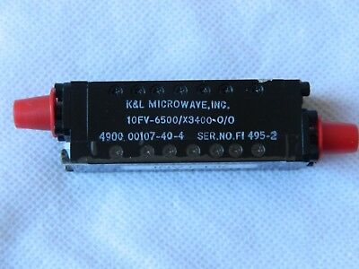 K & L Microwave 10FV6500-X3400-0/0 Band Pass Filter 4.8-8.2Ghz [M4D]