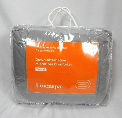 Linenspa Grey Reversible Down Alternative Microfiber Quilted Comforter, Twin XL