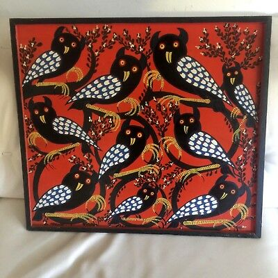 African Contemporary Mohamed Charinda 1947 painting Tingatinga TK12