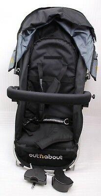 Out N about Buggy Attachment Black/Grey New