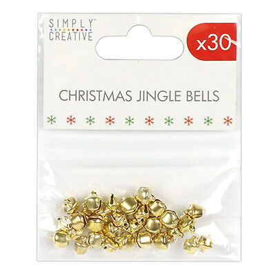 Gold Christmas Jingle Bells 30 Mixed Pack Embellishments Simply Creative Craft