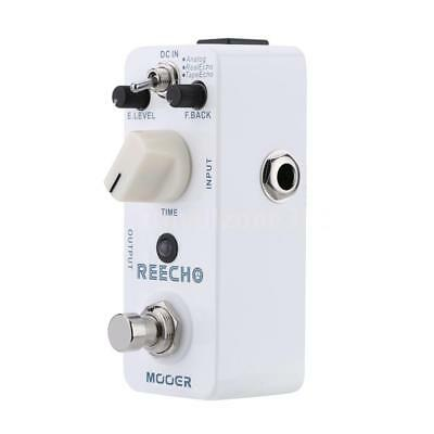 Mooer Reecho Micro Digital Delay Effect Pedal 4 Electric Guitar True Bypass Q9C1