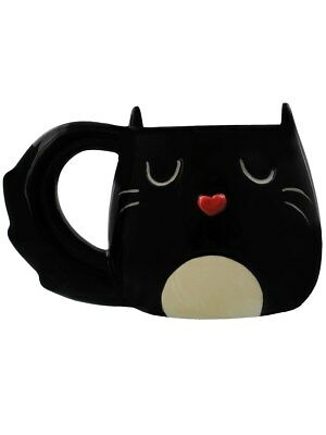Cat Shaped Black Mug