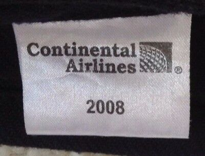 """Continental Airlines blanket/throw. 2008.Navy blue. Appx 58"""" x 36"""""""