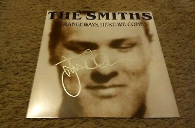 JOHNNY MARR THE SMITHS Signed STRANGEWAYS, HERE WE COME 12X12 ALBUM PHOTO