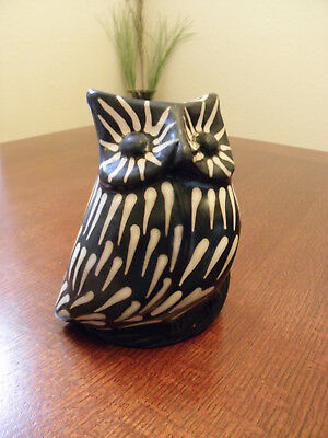 Brand New Made In Chulucanas Peru Piura Region Tradition Pottery Owl