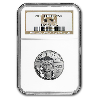 2002 1/2 oz Platinum American Eagle MS-70 NGC - SKU#51822