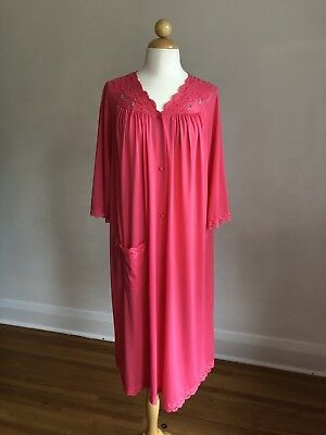 Vintage SHADOWLINE Pink Duster Nightgown L