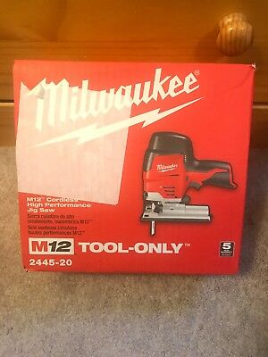 Milwaukee 2445-20 M12 12V Cordless High Performance Jig Saw FAST SHIPPING