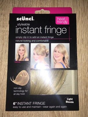 SCUNCI Frange Cup In Fringe Extension LIGHT BLOND  Neuf Clip Cheveux BLOND