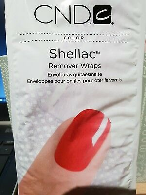 ❤  CND Creative Nails Shellac Remover Wraps x 10 Wraps Sealed Pack ❤