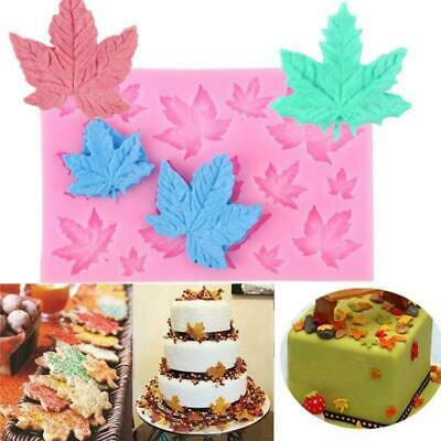 Maple Leaf Chocolate Mold Bar Block Ice Silicone Cake Candy Sugar Bake Mould N3