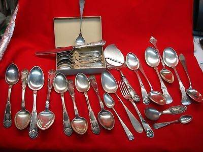 Norwegian .830 Silver Flatware - Large Lot With Some Unusual Pieces