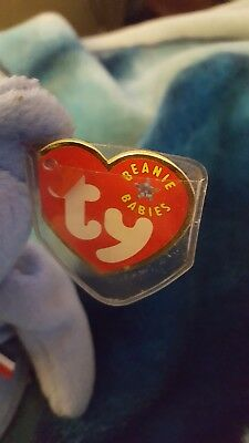 Ty Beanie Baby America 9/11/2001 Memorial Bear Red Cross. Blue. Rare.