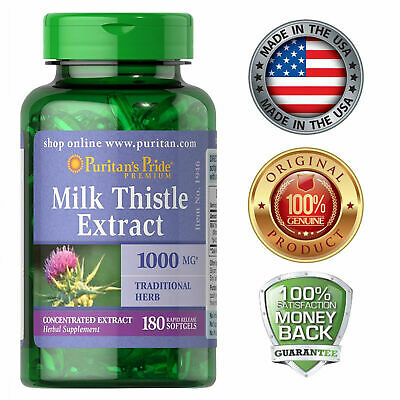 Puritan's Milk Thistle 4:1 Extract 1000 mg 180 Softgels Liver Support