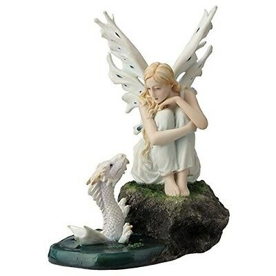 Fairy with Baby White Water Dragon figure statue collectible NEW FREE SHIP