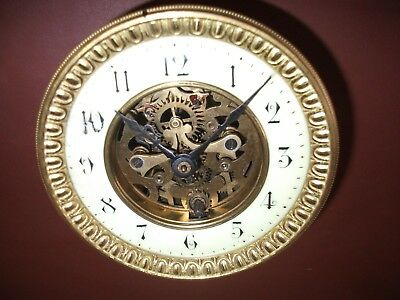 French mantel clock (time piece) movement and dial (Spares and repair).