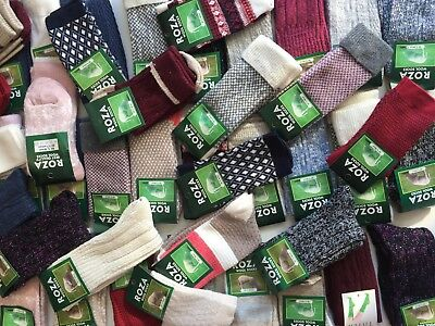 3 PAIRS LADIES WOOL HIGH QUALITY THERMAL CHUNKY SOCKS HIKE BOOT SIZE 4-7 MRTYHG