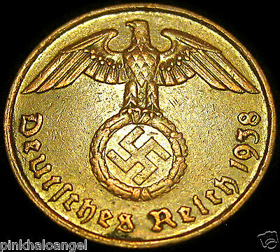 Germany German Third Reich  German 1938G 2 Reichspfennig Coin World War 2
