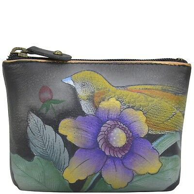 "Anuschka #1031 VBQ ""VINTAGE BOUQUET"" Coin Purse 4""x2.75"" New With Tags"