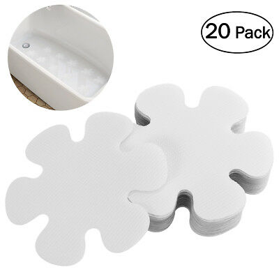 20X Flower Shape Anti Slip Bath Stickers Non Slip Shower Discs For Tubs Showers