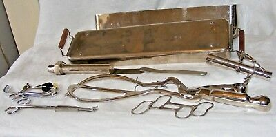 Vintage Surgical Obstetric Instruments Forceps Sterilising Medical Equip Midwife