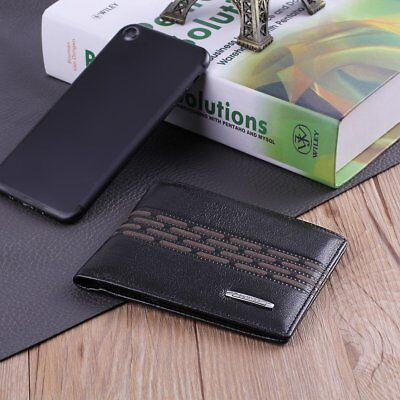 PLOVER GD5880-6A Business Soft High Grade Cow Leather Man Short Wallet Black ~1