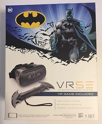 VRSE Batman Virtual Reality Set - IR Controller VR Headset SEALED Ages 8+