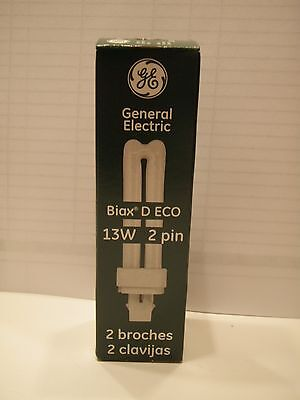 New Case of 10 General Electric Biax D ECO 13w 2pin GE