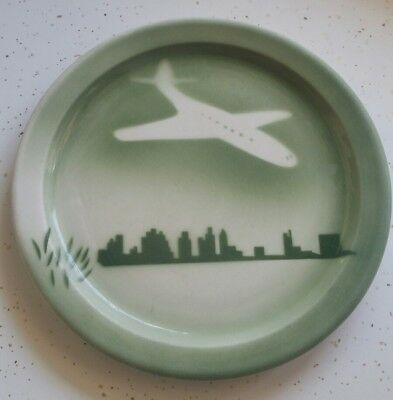 Jackson China Airbrushed Airplane Plate Rockford Illinois Airport