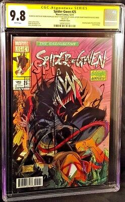 MARVEL Comic SPIDER-GWEN #25 CGC SS 9.8 GWENOM SPIDER-MAN 316 GHOST SPIDER VENOM