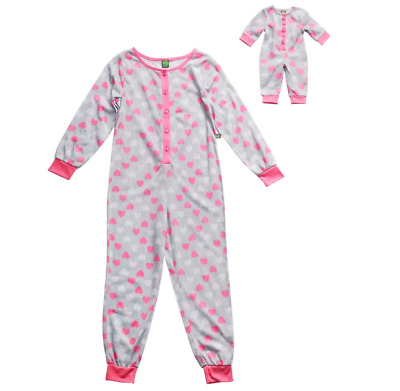 92b2ded9bd Dollie   Me Heart One-Piece Pajama Set matching Pjs for Doll Girls Small 4