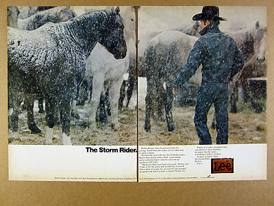 1972 Lee Storm Rider Jean Jacket rodeo champ Bobby Berger photo vintage print Ad