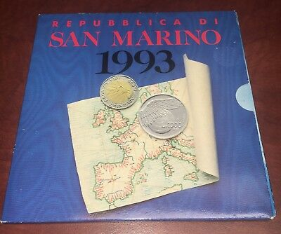 SAN MARINO 1993 10 Coin BRILLIANT UNCIRCULATED Mint Set w/ silver! scarce italia