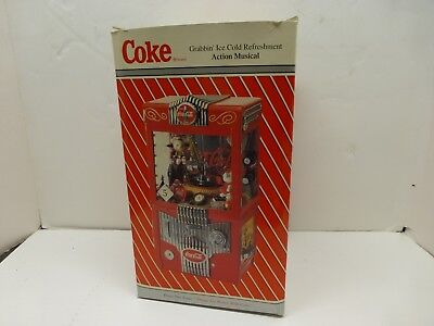 1997 Coca Cola Grabbin' claw game musical bank Enesco works with box - Lot C18