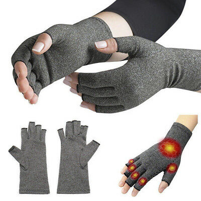Anti Arthritis Gloves Compression Support Hands Pain Relief Brace Protector Pair