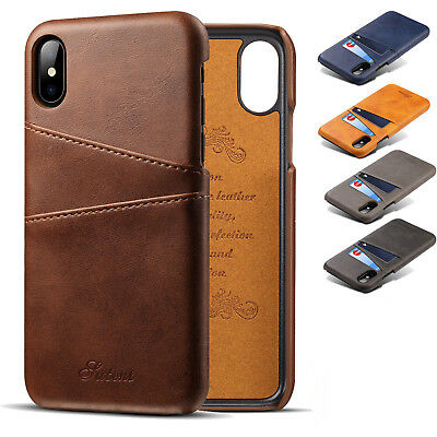 Flip Leather Men's Wallet Card Stand Case Cover For iPhone X XS Max XR 7 8 Plus